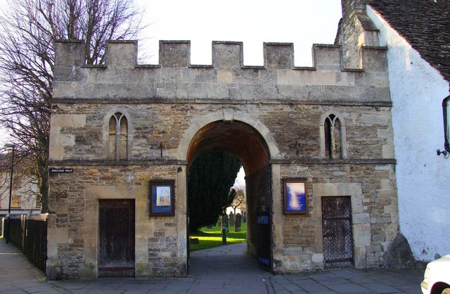 Exterior, gatehouse. Two lock-up cells on each side of the gateway.