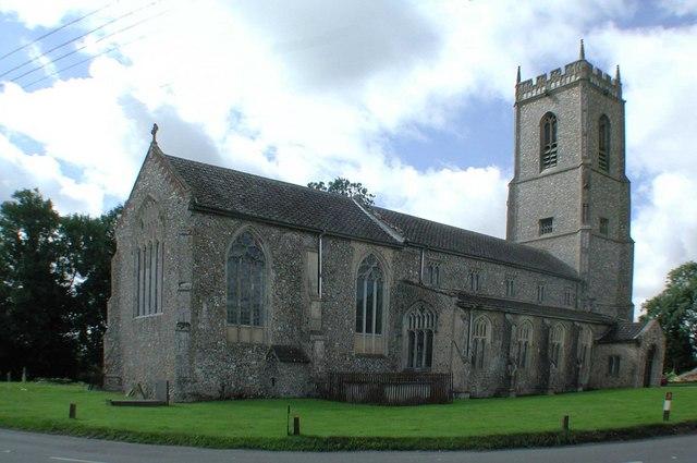 Exterior, St Bartholomew's Church, Brisley