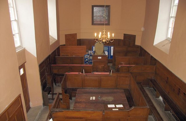 Shirehall interior - courtroom used for Petty Sessions and Quarter Sessions from the late 18th century