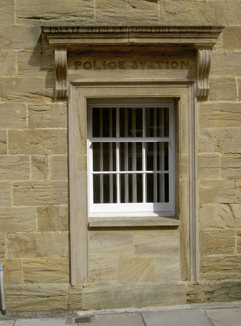 Exterior. Former door to Police Station