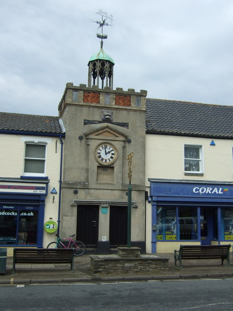 Clock tower, exterior, showing lock-up cells at base