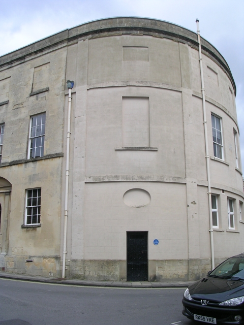 Exterior, entrance to lock-up rear of town hall (blue plaque identifies use as a lock-up)