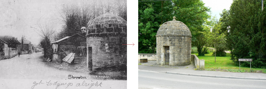 Shrewton lock-up - historic images before and after, by Prison History