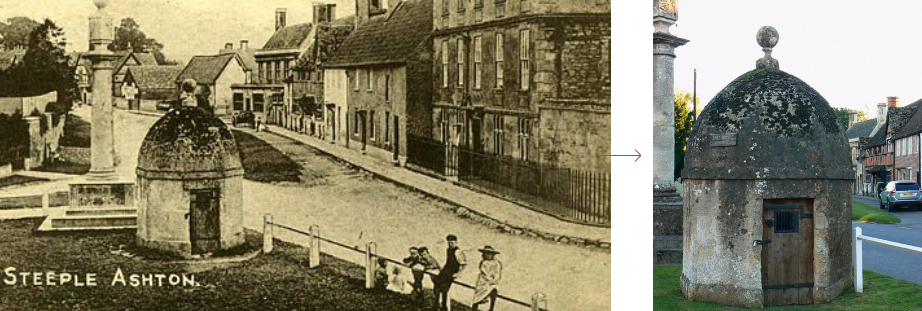 Steeple Ashton lock-up, before and history - historic images edition blog, by Prison History