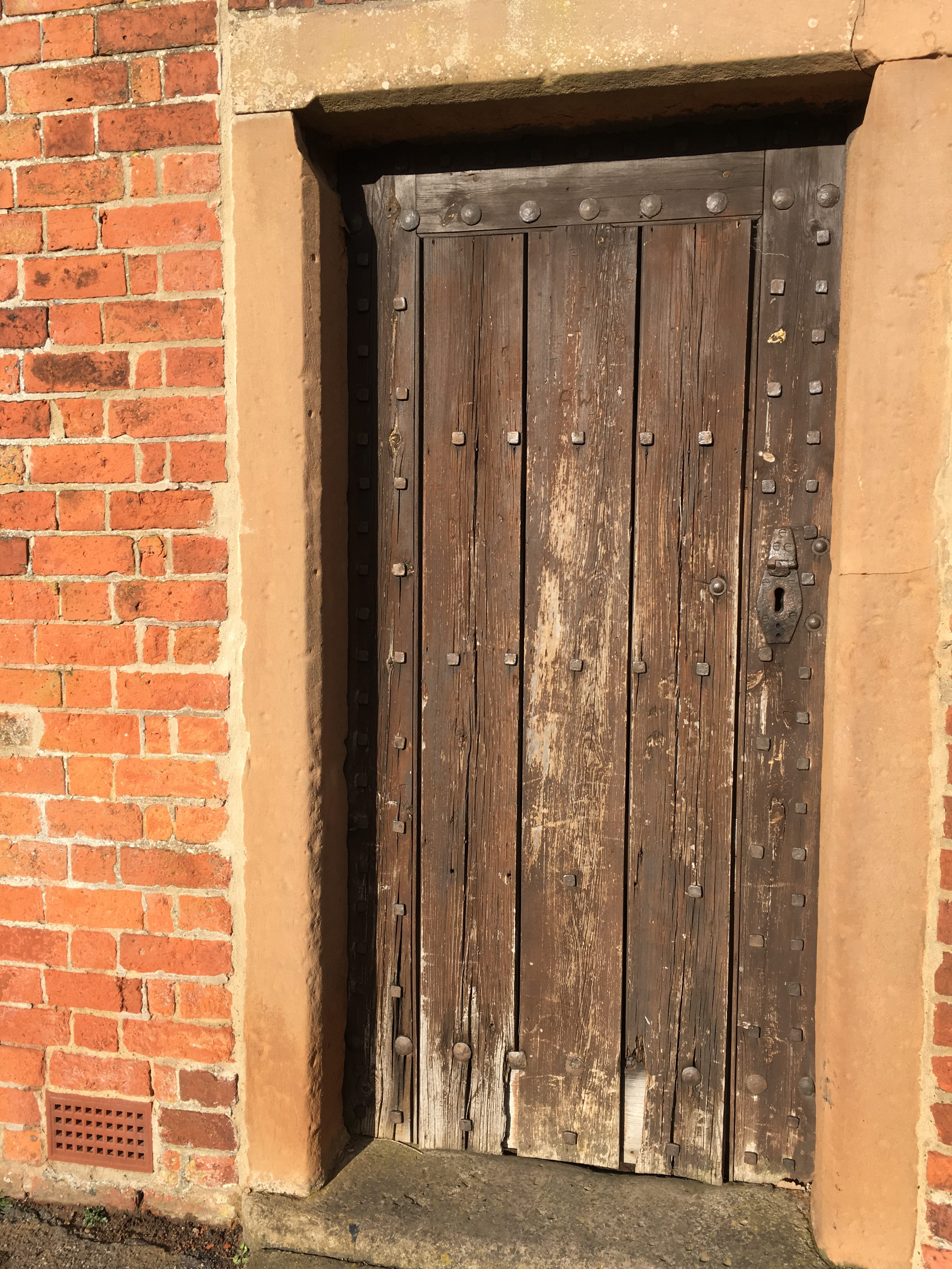 Farnsfield Lock-up, close up of door