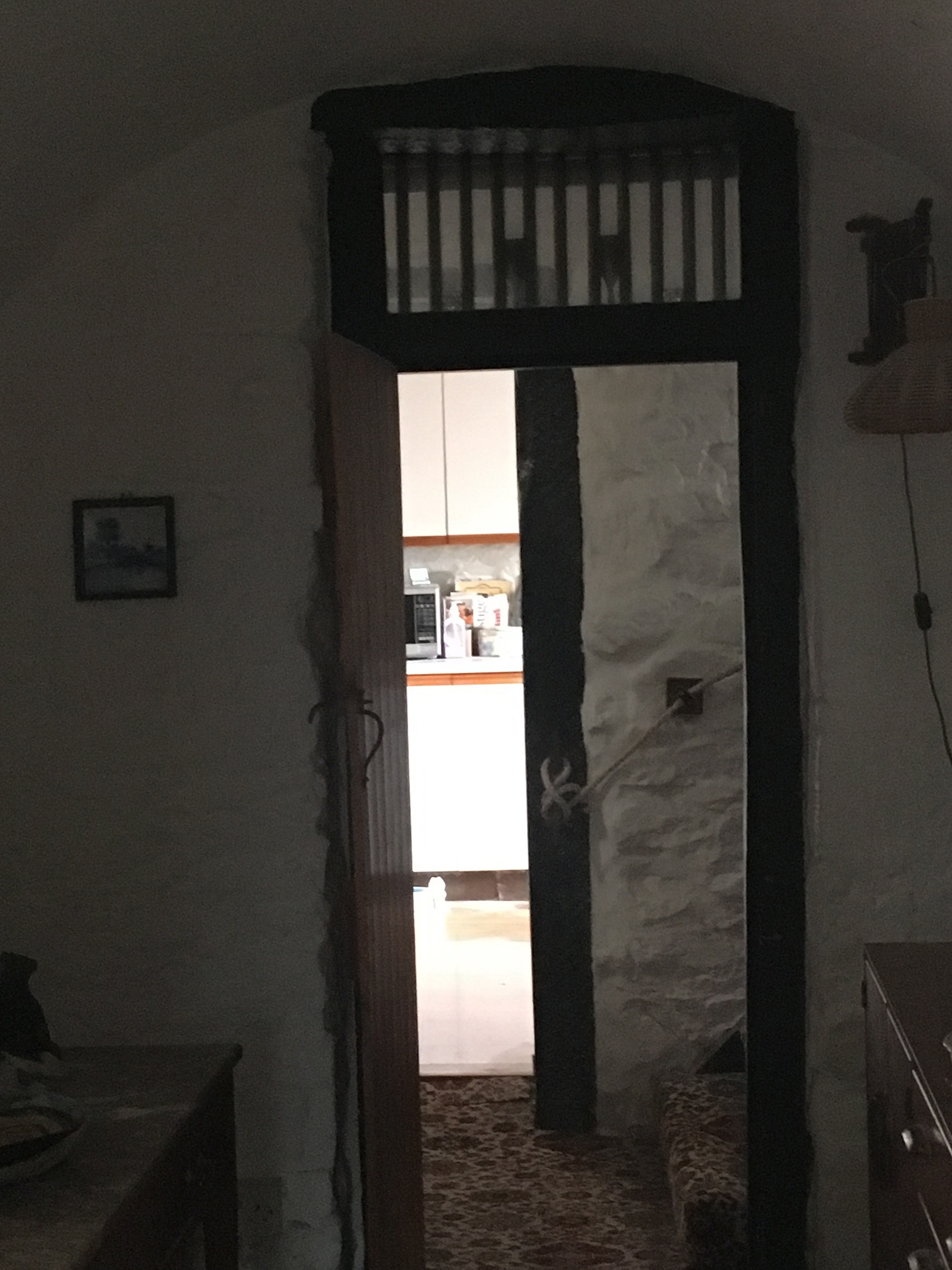 Second original cell, now serving as an ante-room between sitting room and kitchen