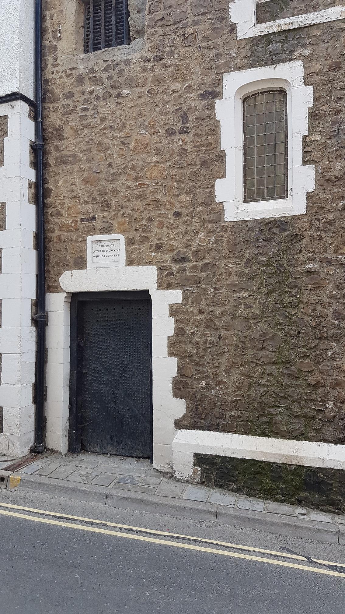 Door to the lock-up, opening on to Bridge Street