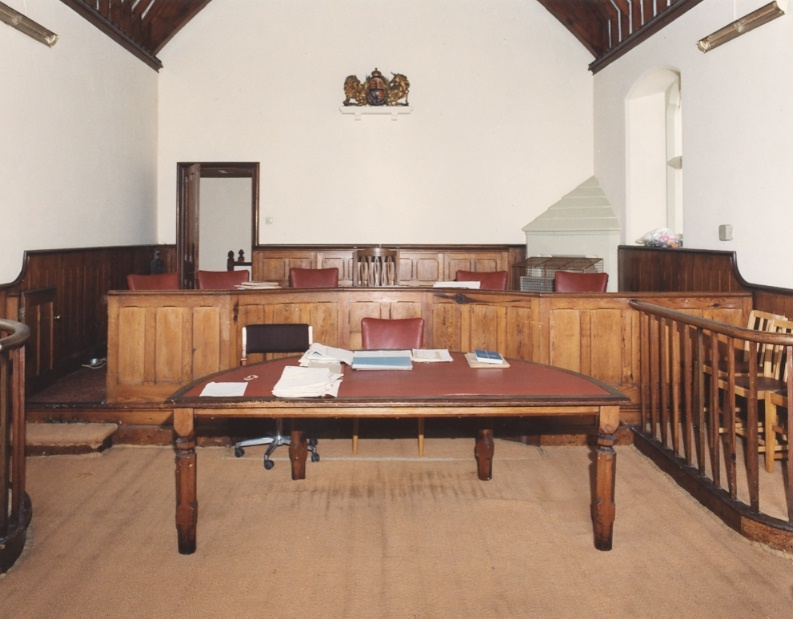 Courtroom - on final day of sitting, 25 September 1991