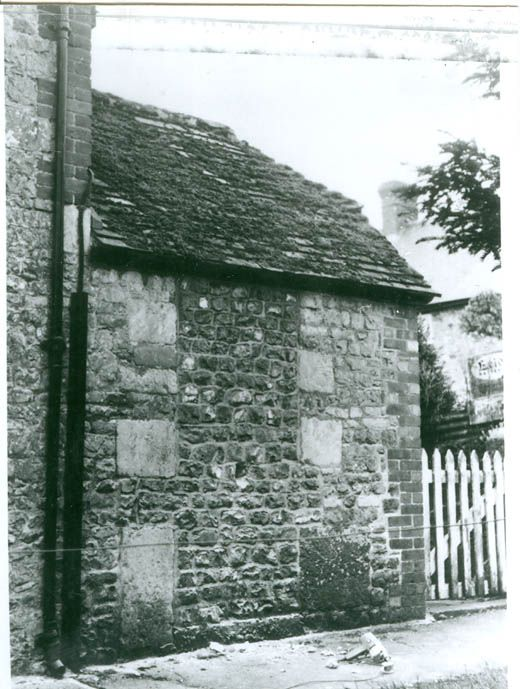 Photograph, view of the lock-up before the blocked doorway was opened up, Maiden Bradley, Maiden Bradley with Yarnfield, Wiltshire, 1979.