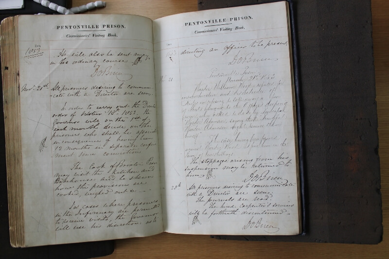 Commissioners' Visiting Book from Pentonville Prison, The National Archives, PCOM 2/90