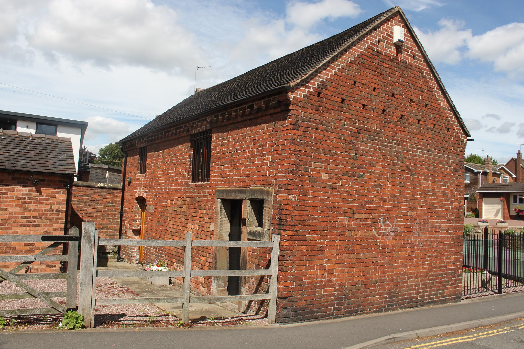 Penkridge Gaol showing the rear of the building