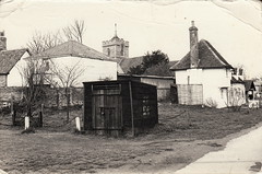 Stocks and village lock-up, High Street, Roydon (undated)