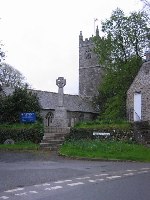 St Tudy Church and War Memorial