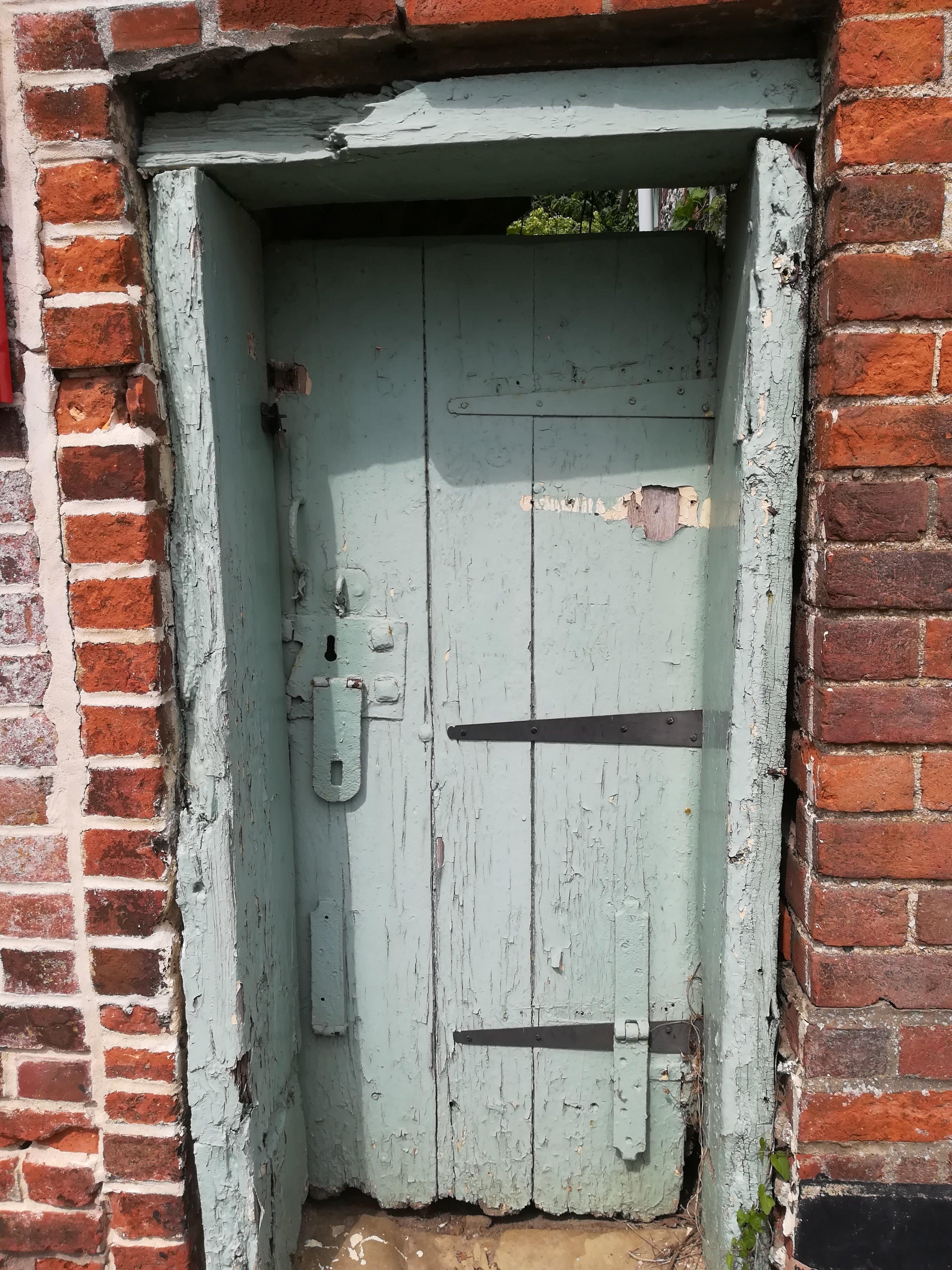 Close up of lock-up door