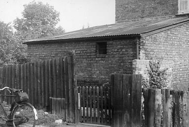 Exterior of the Old Police Station, Rickmansworth, showing the lock-ups attached to the side of the building