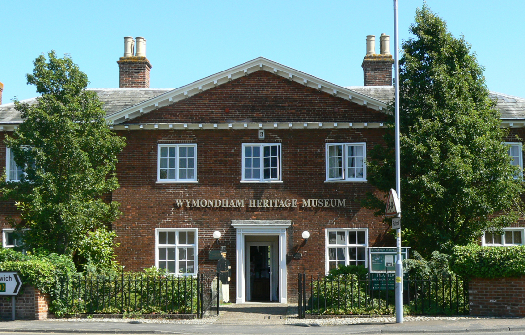 Exterior of the Bridewell at Wymondham, part of which was used as a lock-up. Now a museum.