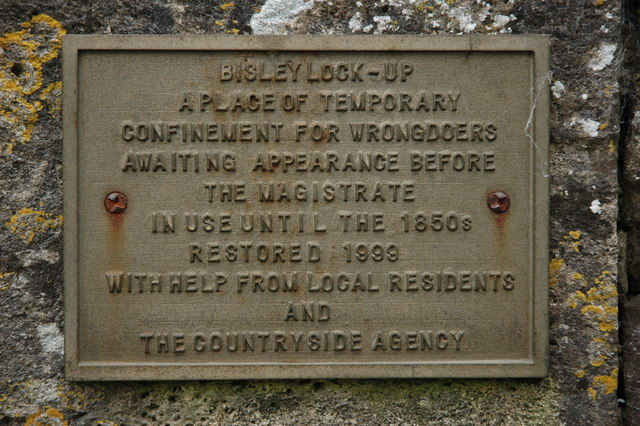 Plaque on the Bisley 'Lock-Up'