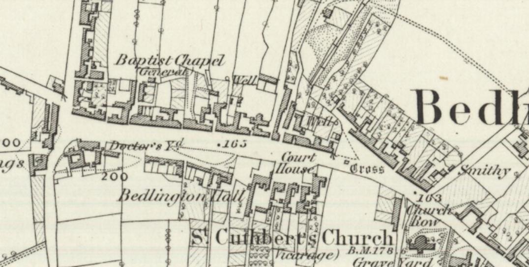 From Ordnance Survey Map, Northumberland LXXII (includes: Bedlington; Hepscott; Stannington.) Surveyed: 1858 to 1859 Published: 1866
