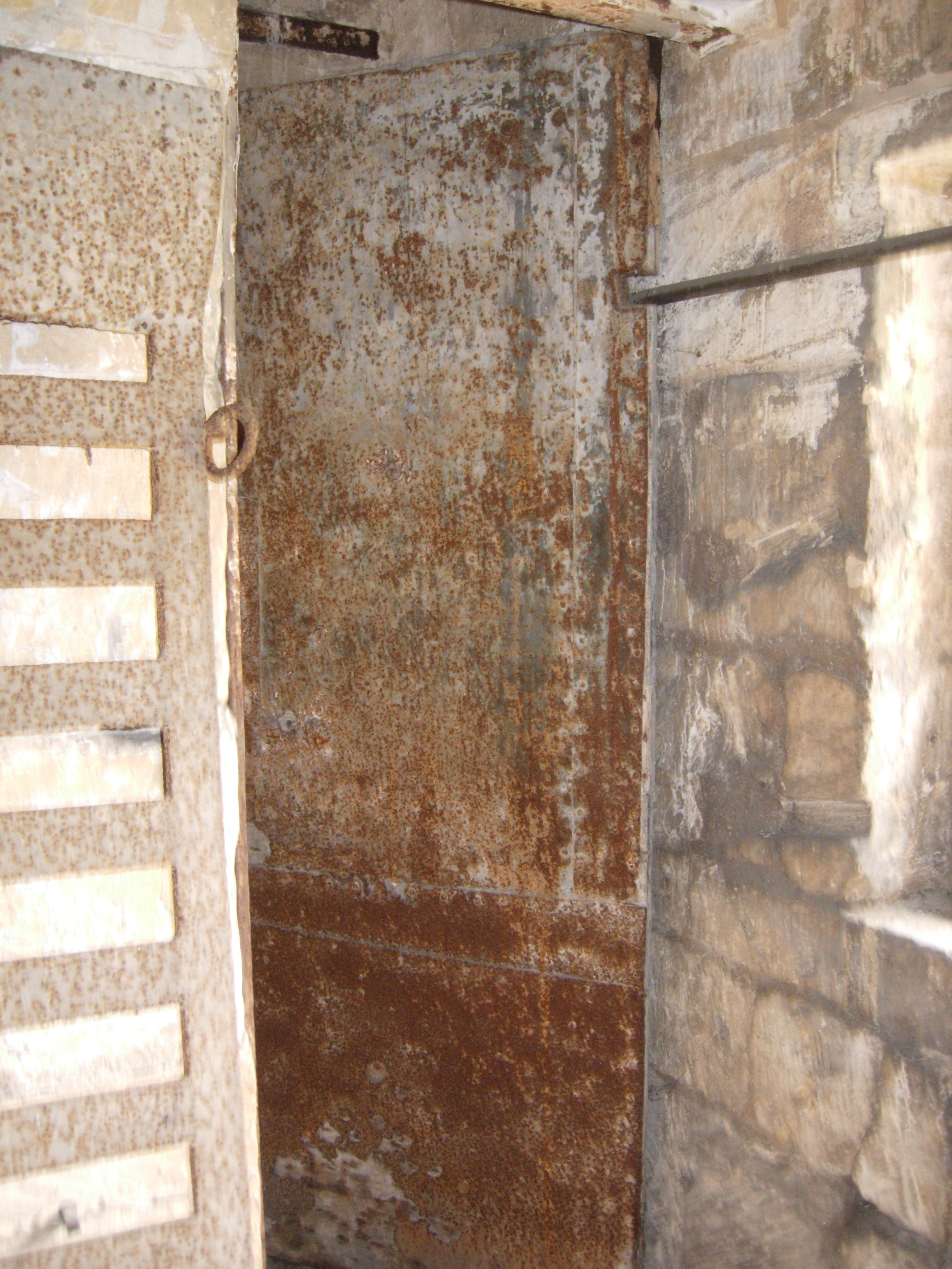 Lock-up interior, showing the door to the North cell.