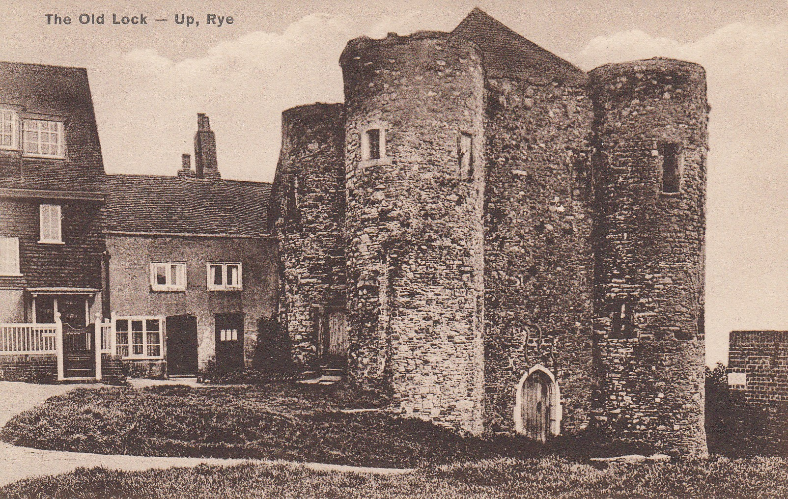 The Old Lock-Up, Rye. (Unknown date. Souvenir postcard)
