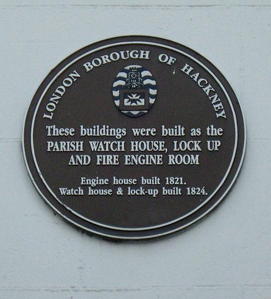 Stoke Newington Church Street Watch House Plaque