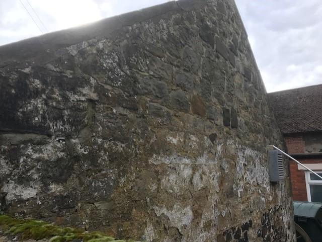 This is a separate building inside the perimeter wall of The Salmon. It looks very old and there is evidence of alterations to the stonework.